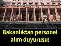Adalet Bakanlığı tarafından sözleşmeli personel alımı için ilan verildi.