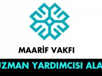 Türkiye Maarif Vakfı Merkez Teşkilatında Uzman Yardımcısı alınacaktır.