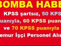 KPSS 50 60 70 Puanla Çok Sayıda Kamu Personeli Alımları