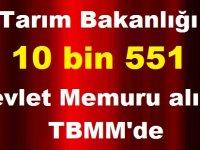 Tarım Bakanlığı 10 bin 551 Kamu Personeli Alımı TBMM'de