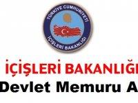 İçişleri Bakanlığı 12 adet Stajyer Kontrolör kadrosu Devlet Memuru Alımı