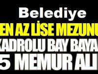 İstanbul Bursa Büyükşehir Belediyeleri 65 Kamu Personeli Alımı