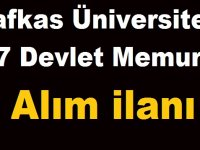 Kafkas Üniversitesi 17 Devlet Memuru Alım ilanı