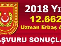 Uzman Erbaş Alımı Başvuru Sonuçları 16 Kasım 2018