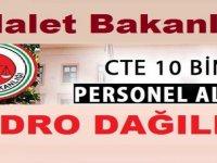 Adalet Bakanlığı 10 Bin Kamu Personeli Alımı Kadroları