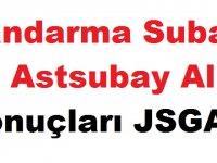 Jandarma Subay ve Astsubay Alımı Sonuçları 2019 JSGA