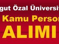 Turgut Özal Üniversitesi ilkokul mezunu 50 personel alımı