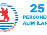 Ondokuz Mayıs Üniversitesi 25 Devlet Memuru Alım İlanı.