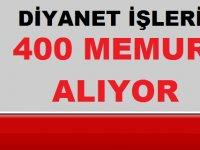 DİB 400 Devlet Memuru Alım İlanı