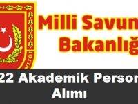 Milli Savunma Üniversitesi 222  Personel Alımı