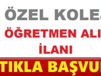 Ankara Özel Kolej Öğretmen alımı Yapıyor