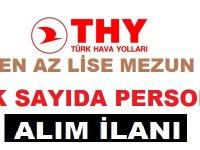 Türk Hava Yolları En Az Lise Mezunu 100 Personel Alımı