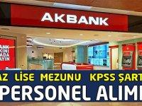 Akbank Türkiye Geneli 2021 Yılı Personel Alıyor