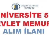 Eskişehir Osmangazi Üniversitesi 55 Kamudan Kariyer Memur Alımı