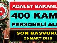 Adalet Bakanlığı 400 Devlet Memuru Alımı yapıyor