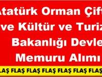 Atatürk Orman Çiftliği ve Kültür ve Turizm Bakanlığı Devlet Memuru Alımı