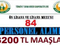 84 Kooperatif Görevlisi Alımı ve Ziraat Mühendisi Alımı