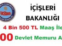 İçişleri Bakanlığı 1200 Devlet Memuru Alımı Başvuru Sonuçları