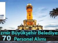 İzmir Büyükşehir Belediyesi 70 Personel Alımı Mart 2019