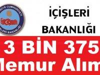İçişleri Bakanlığı 3 Bin 375 Askeri Personel Alımı