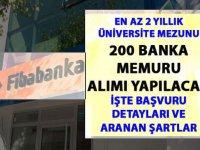 Fibabanka 200 Banka Memuru Kamudan Kariyer Alımı