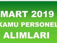 Kamu Personeli Alımları Mart 2019