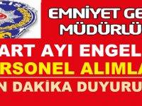 EGM Kırşehir ve Isparta İl Emniyet Müdürlüğü Engelli Personel Alımı