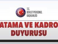 Devlet Personel Başkanlığı DPB Yeni Memur Atama Duyurusu