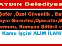 Aydın Efebel AŞ 12 Belediye Personel Alımı