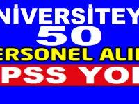Ardahan Üniversitesi En Az İlkokul Mezunu 49 Kamu İşçisi Alımı