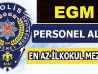 İzmir Emniyet Müdürlüğü En Az İlkokul Mezunu Kamu Personel Alımı