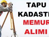 Tapu ve Kadastro Genel Müdürlüğünden:20 Devlet Memuru Alınıyor