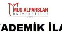 Muş Alparslan Üniversitesi Öğretim Elemanı Alıyor