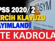 KPSS 2020/2 tercihleri kapsamında Memur Alımı Yapılacaktır
